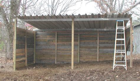 horse shelter loafing shed plans