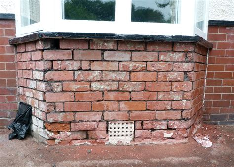 repointing brick replacement  wall  bay window