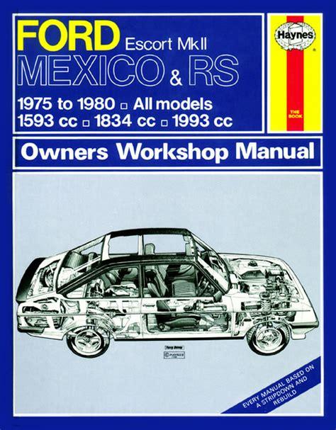 car owners manuals free downloads 2001 ford escort parental controls haynes manual ford escort mk2 mexico rs 1800 rs 2000 75 80