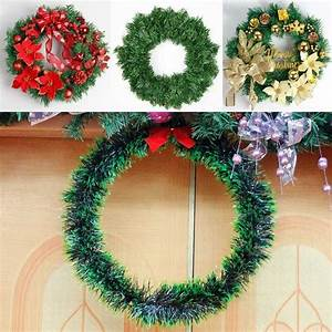 Christmas, Wreath, Bow, Pine, Needle, Christmas, Decoration, For, Home, New, Year, Gift, Hanging, Xmas, Tree