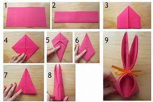 Pliage Serviette Lapin Simple : cr ations diy brico tricot pinterest pliage de serviettes pliage de serviettes et table ~ Melissatoandfro.com Idées de Décoration