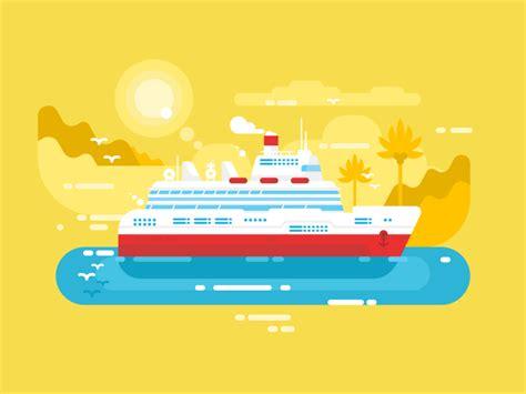 Ship Illustration by Cruise Ship Illustration