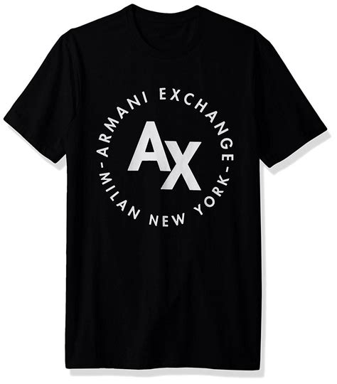 ax exchange mens circle logo crew neck tee  shirt