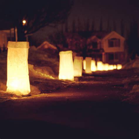 christmas luminary lights tradition luminaries romney writes