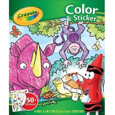 crayola coloring book   stickers jungle animals