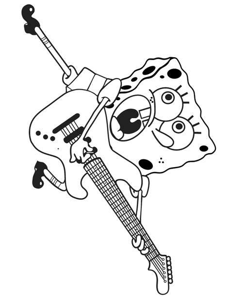 guitar coloring page coloring home