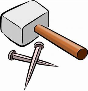 Snarkhunter Hammer And Nails clip art Free vector in Open ...