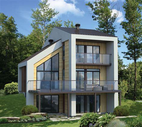 narrow lot contemporary house plan pm