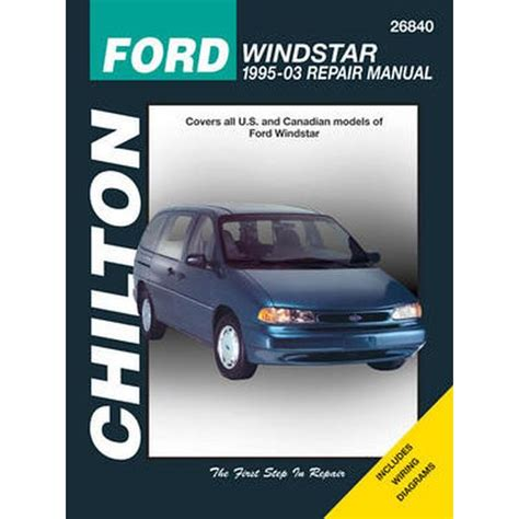 auto repair manual online 1995 ford windstar spare parts catalogs chilton repair manual ford windstar 1995 07 northern auto parts