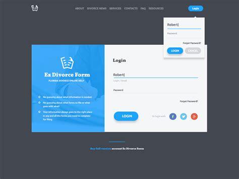 modern sign  login form ui designs web graphic