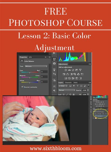 Photoshop Course Basic Color Adjustments