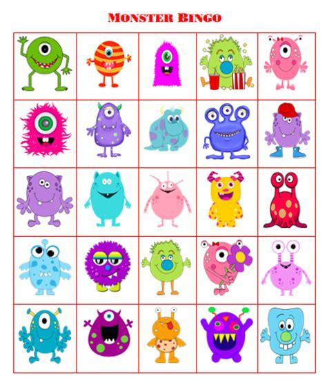 printable monster bingo grandma ideas