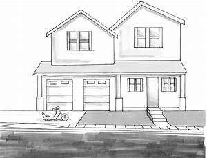 Simple House Drawing – Modern House