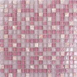 stick on kitchen backsplash pink glass mosaic tile square bathroom wall and