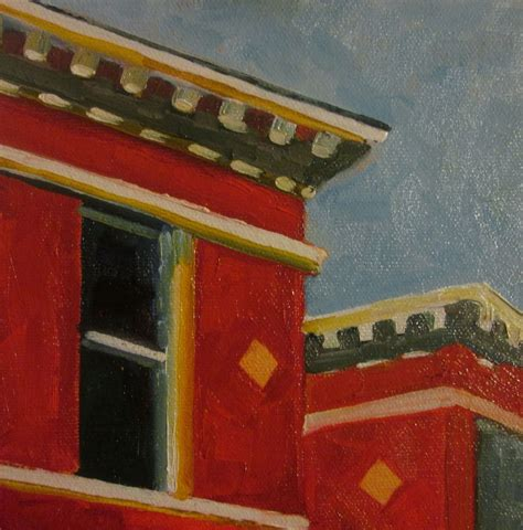 painting edward hopper rooftops