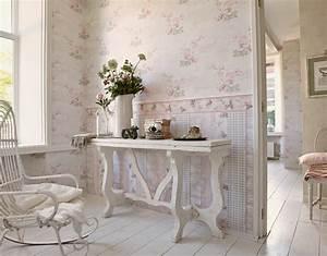 Tapeten Landhausstil Schlafzimmer : el estilo shabby chic me gusta el papel pintado ~ Markanthonyermac.com Haus und Dekorationen