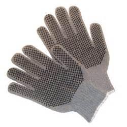 G & F 100% Medium Natural Cotton PVC Dots Gloves (300-Case