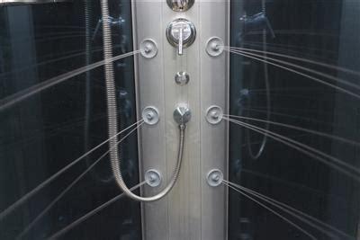 mesa  steam shower      blue glass