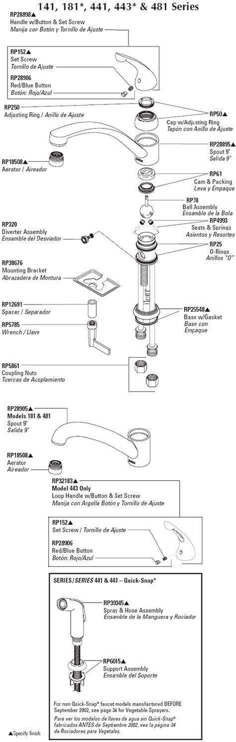 Moen Kitchen Faucet Parts Diagram. Moen Kitchen Faucets