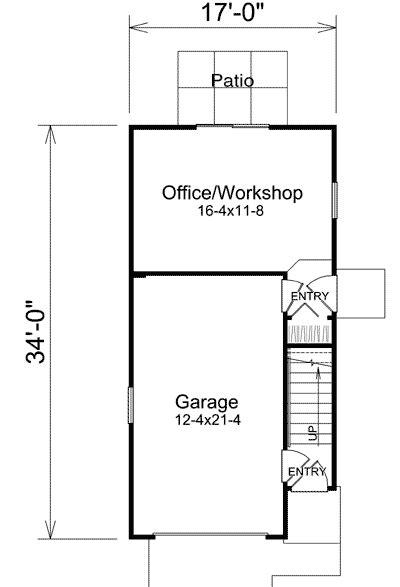 Studio Apartment Garage With Office - 57156HA