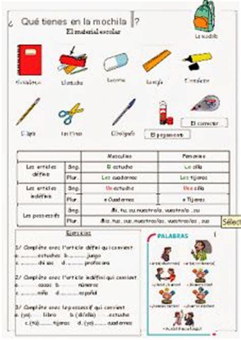 bureau traduction espagnol classroom objects labeling worksheet