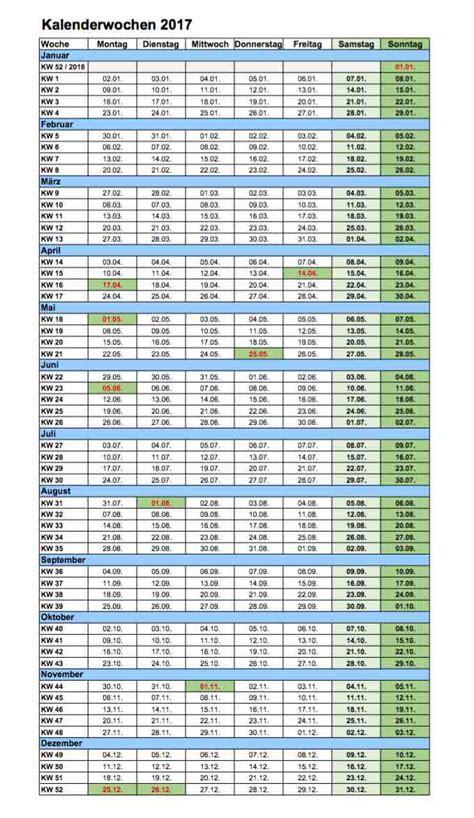 kalenderwochen  excel und  format muster vorlagech