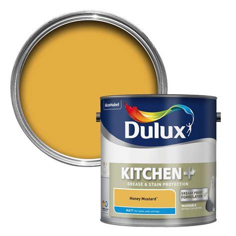 Homebase Cupboard Paint by Dulux Kitchen Honey Mustard Matt Emulsion Paint 2 5l
