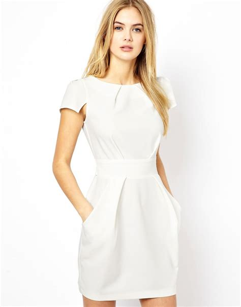 closet closet tie back dress with pockets at asos