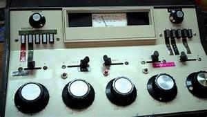 Sparta Vintage Radio Station Mixer Board Working