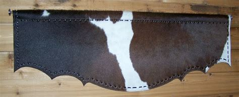 Cowhide Valance - h m valley ranch store western decor cowhide valance