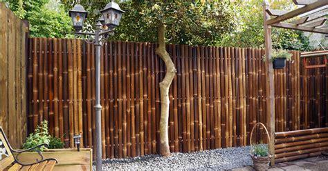 ide desain pagar rumah minimalis  bahan bambu  griya