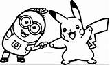 Pikachu Coloring Pokemon Pages Pichu Printable Picachu Ash Getcolorings Eevee Pag Minion Colorings Getdrawings sketch template
