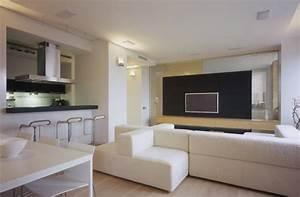 Design interieur cuisine ouverte salle manger salon for Deco cuisine avec salle a manger contemporaine blanche