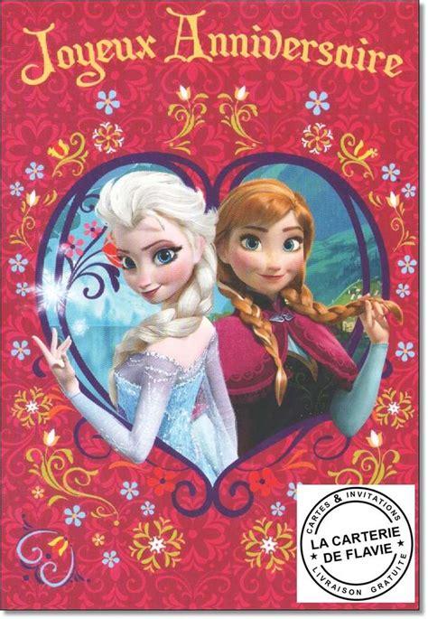 joyeux anniversaire reine des neiges carte musicale la reine des neiges