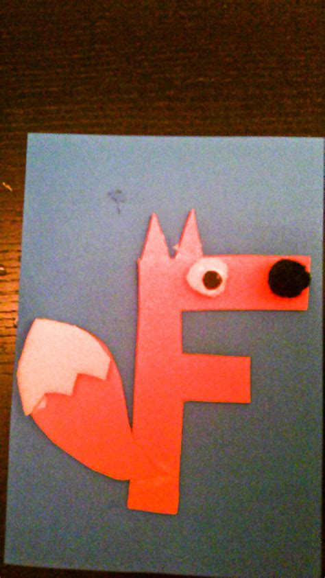 uppercase letter f craft daddy mommy and me