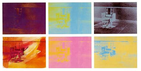 chaise électrique electric chair 1971 andy warhol wikiart org