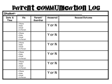 special education parent communication log    hill
