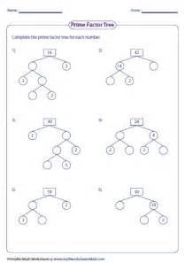 Prime Factor Tree Worksheet