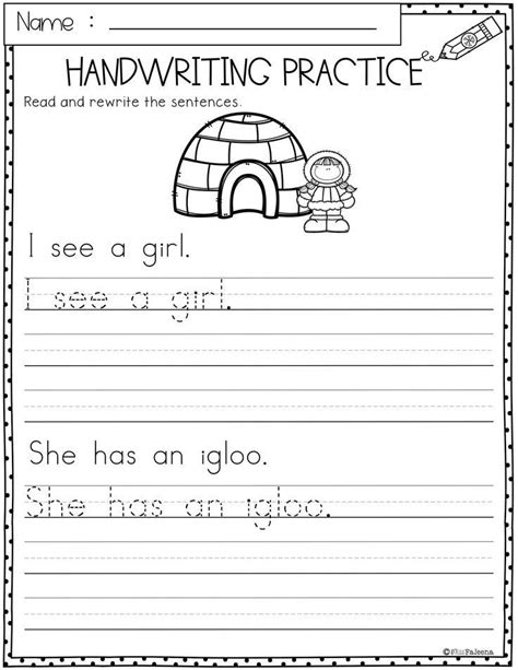 winter handwriting practice  product   pages