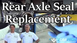 How To Replace A Rear Axle Seal
