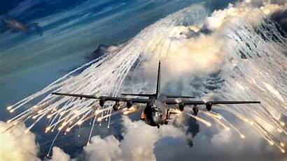 Ac Gunship Flares 130h Force Air Military