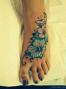 Images Of Hawaiian Flower Foot Tattoo Designs Golfclub