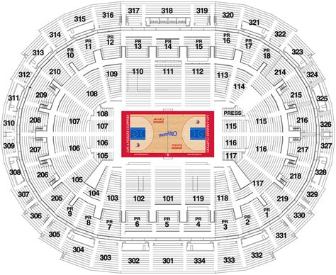 staples center seating chart la clippers los angeles