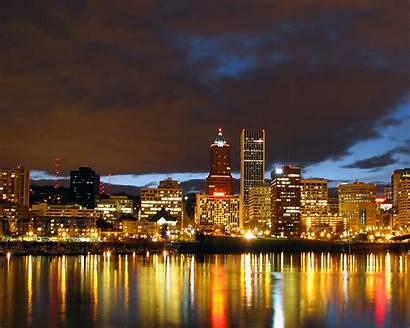 Cityscape Night Portland Desktop Wallpapers Oregon Scape