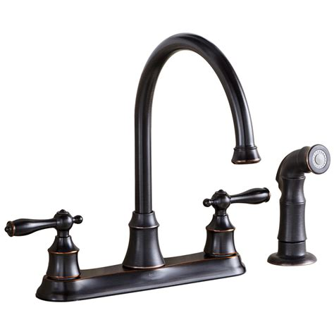 kitchens faucet shop aquasource rubbed bronze 2 handle high arc