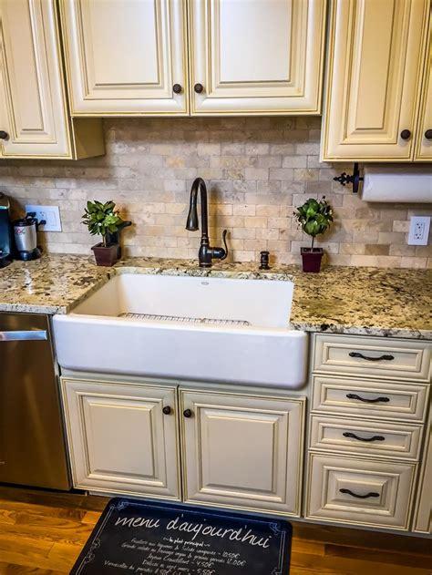 kitchen center island with sink french kitchen farmhouse sink cream cabinets mini