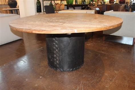 reclaimed elm dining table reclaimed elm top dining table on vintage riveted iron 4529