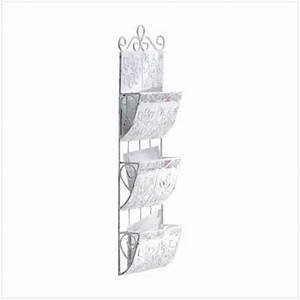 letter mail holder organizer wall mount metal rack 3 tier With white metal letter holder