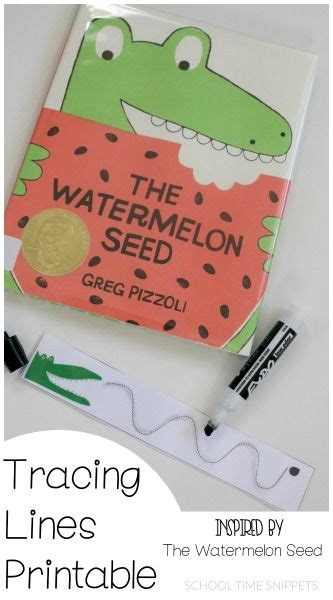tracing lines printable for storybook the watermelon seed 685 | de1c0e60a94d26c0f11f4de55e8832aa
