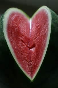 Watermelon Heart Slices